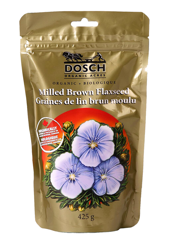 Bag of Dosch Organice Acres Milled Brown Flaxseed
