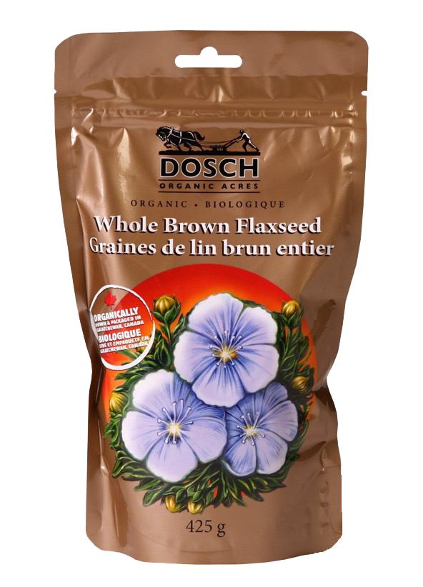 Bag of Dosch Organice Acres Whole Brown Flaxseed